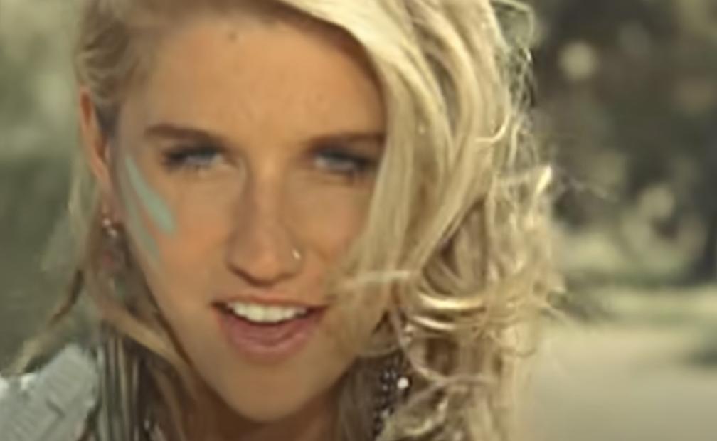 Kesha singing in the desert