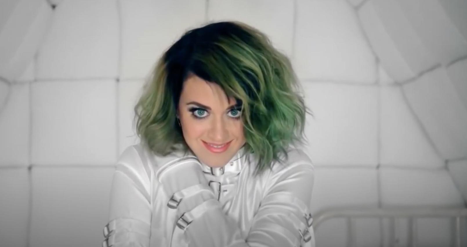 Katy in a straightjacket
