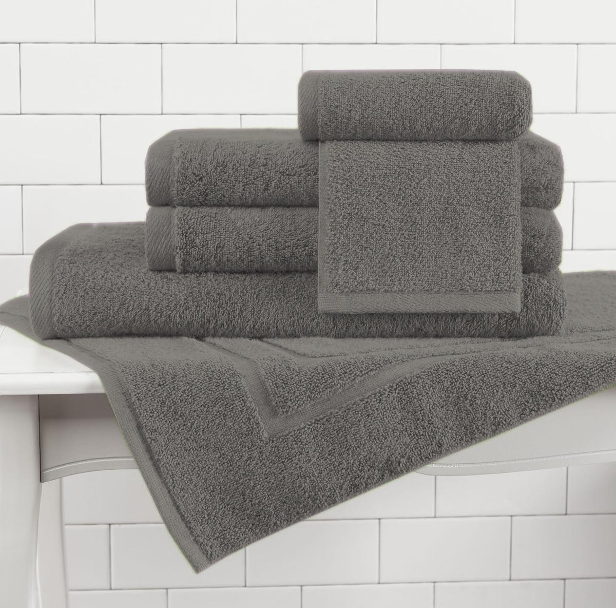 the gray set of towels