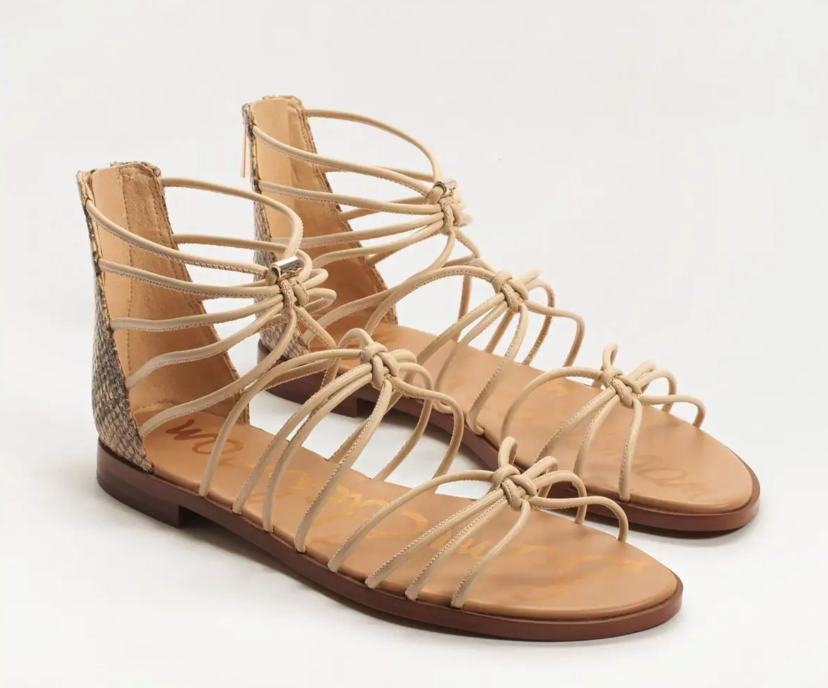 strappy gladiator-style sandals