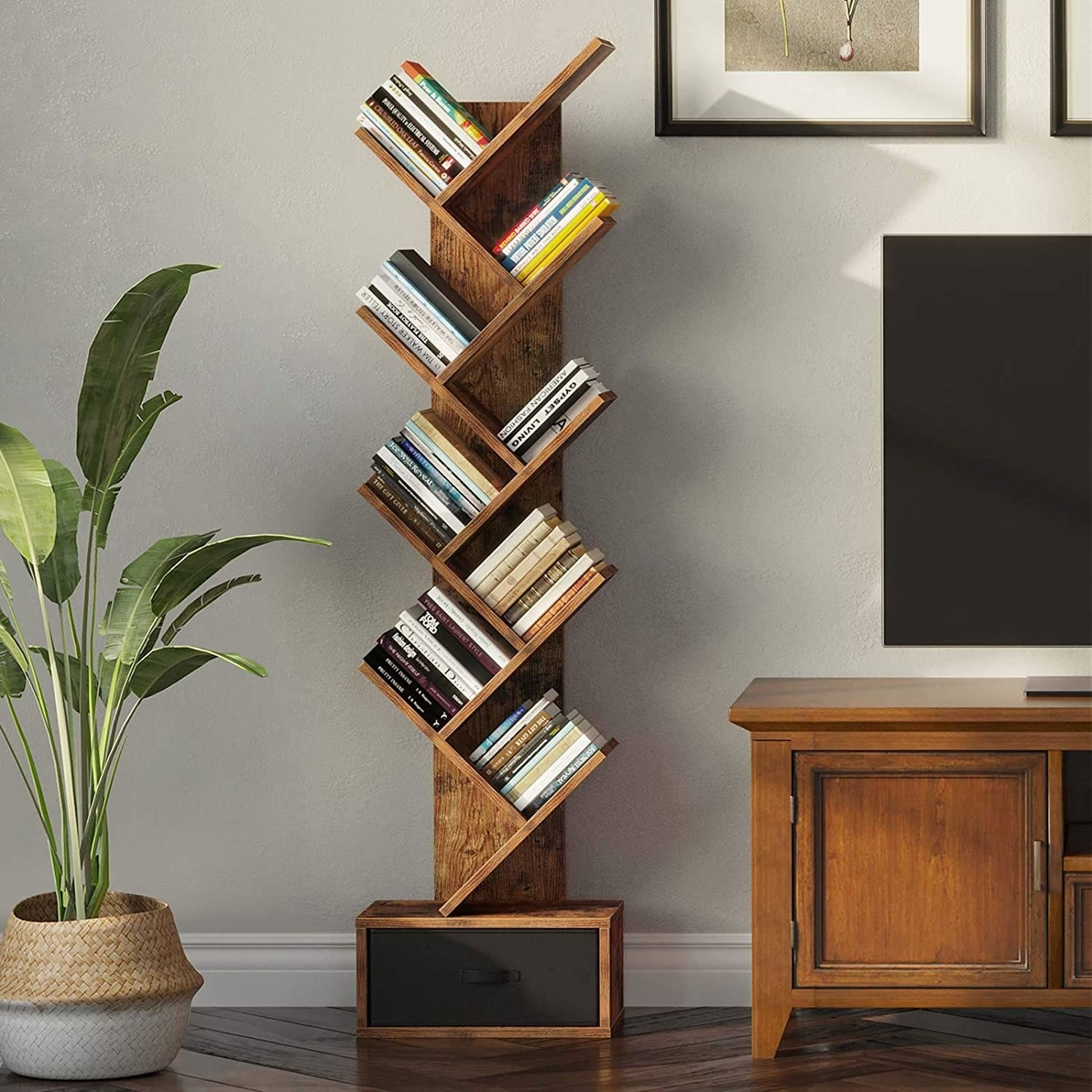 The tree with books on it