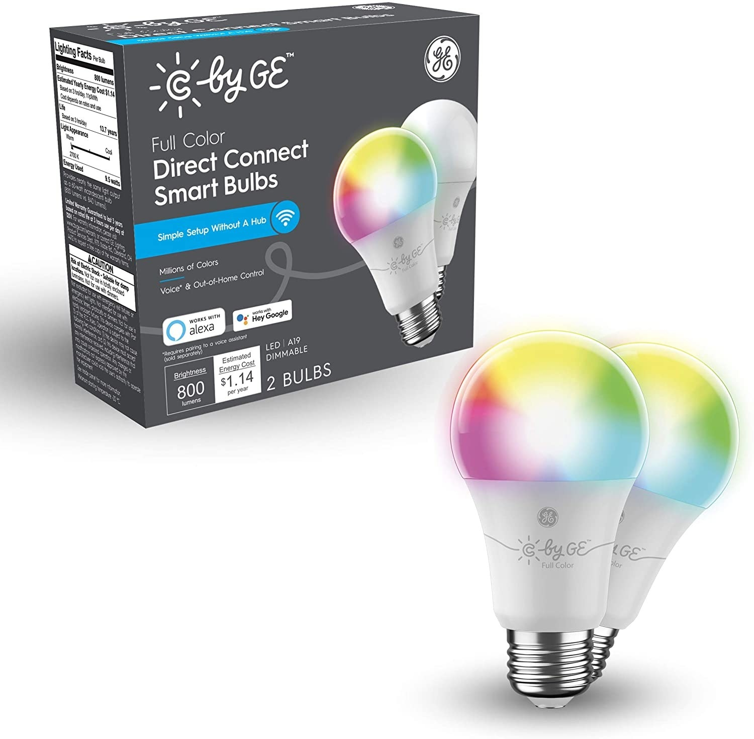 the light bulbs in the color spectrum option that allows you to adjust the dim of the light and also change the color to green red or any other color you choose