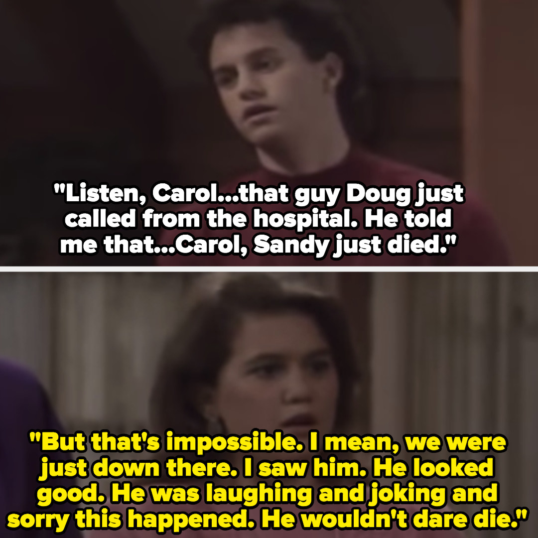 """Carol finds out Sandy died, she says that's """"impossible"""""""