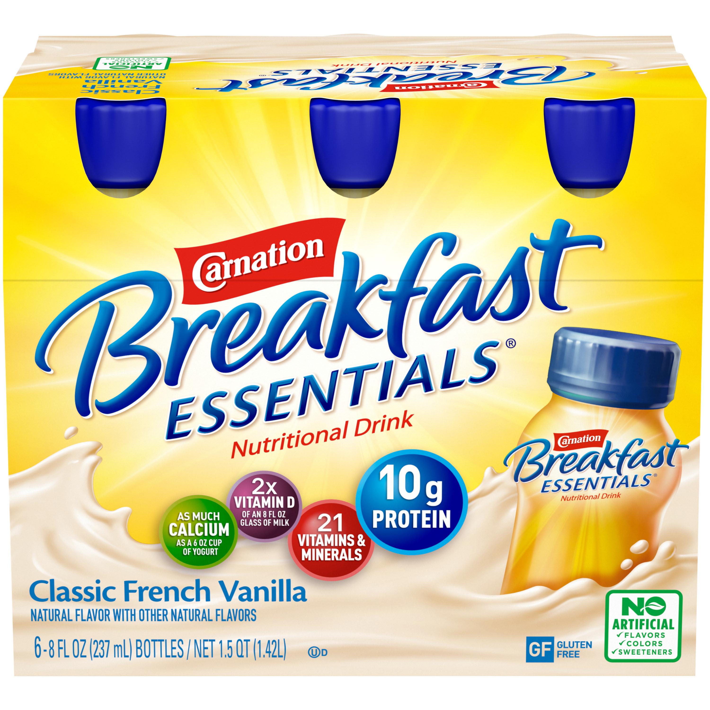Pack of Classic French Vanilla Carnation breakfast shake