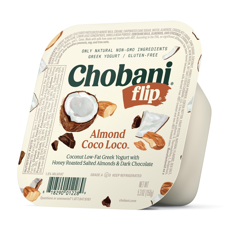 Chobani Almond Coco Loco flip cup