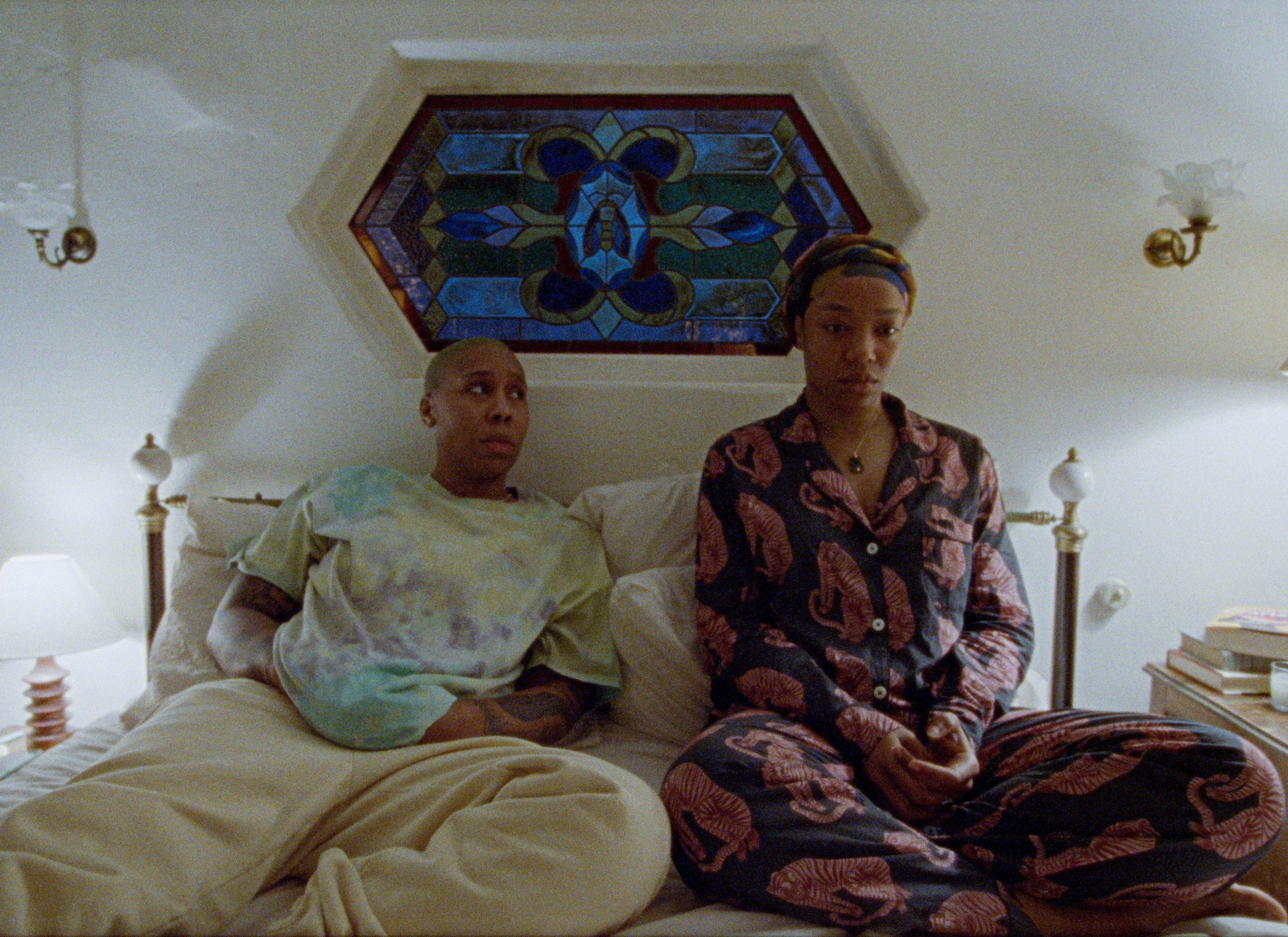 Lena Waithe in bed in a scene from Master of None