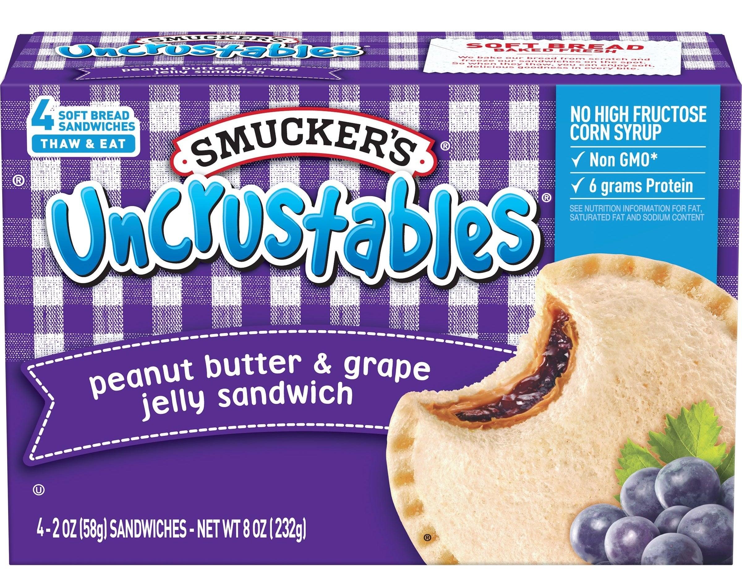 Peanut butter & grape jelly Smuckers Uncrustables