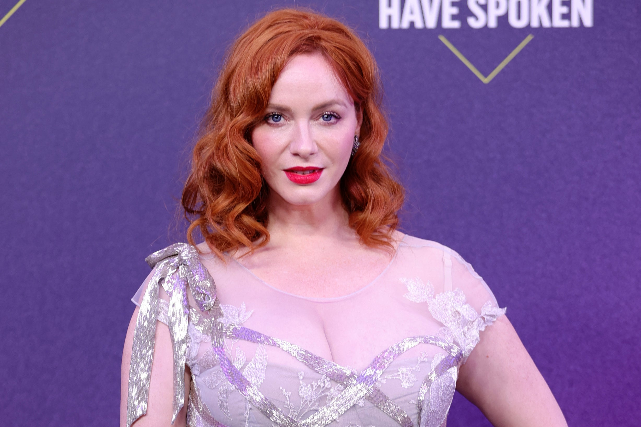 """Christina Hendricks Finally Explained How Her Hand Ended Up On The """"American Beauty"""" Movie Poster"""