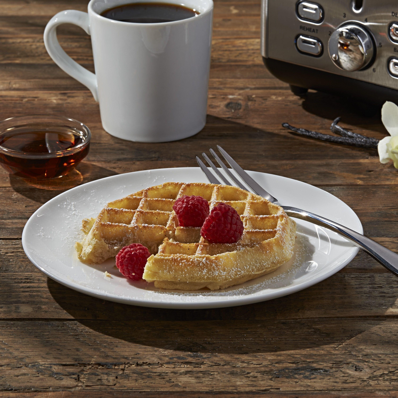 Eggo waffle with raspberries
