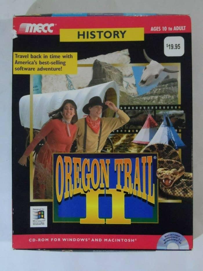 "The box art for ""Oregon Trail II"" on CD-ROM"