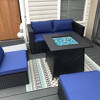 another reviewer's fire pit on their patio