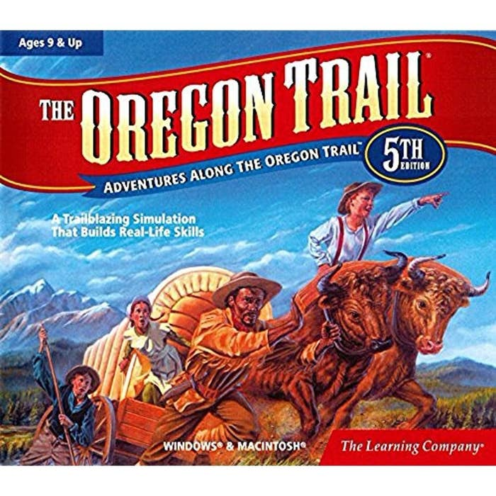"""The box art for the fifth edition of """"The Oregon Trail"""""""