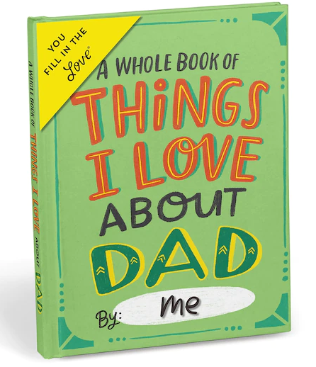 A small book called all the things I love about dad