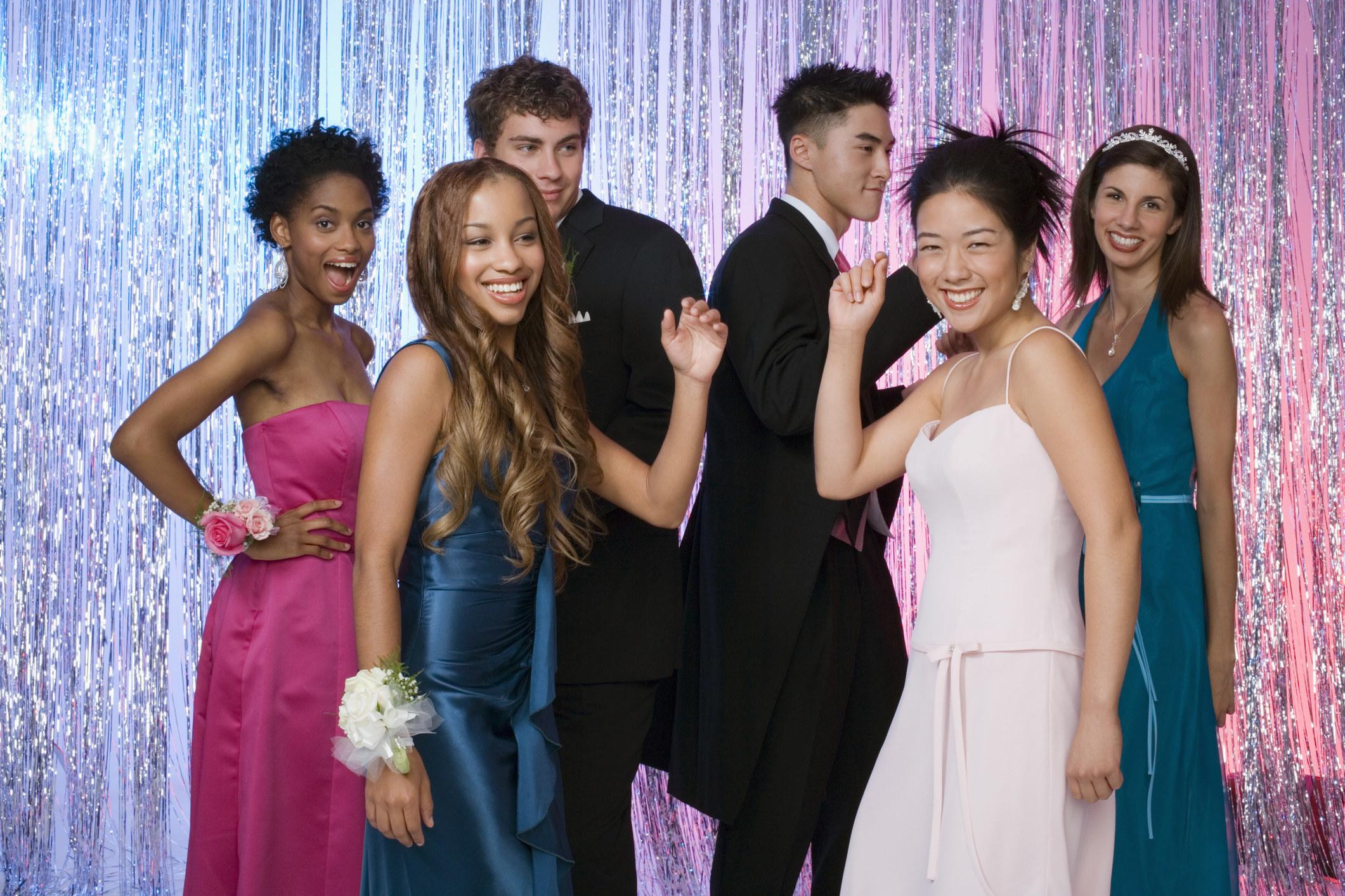 Teens dancing at a school dance