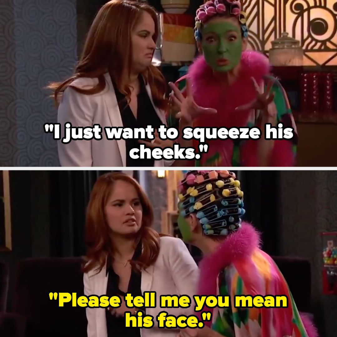 """Mrs. Chesterfield says, """"I just want to squeeze his cheeks"""" and Jessie says, """"Please tell me you mean his face"""""""
