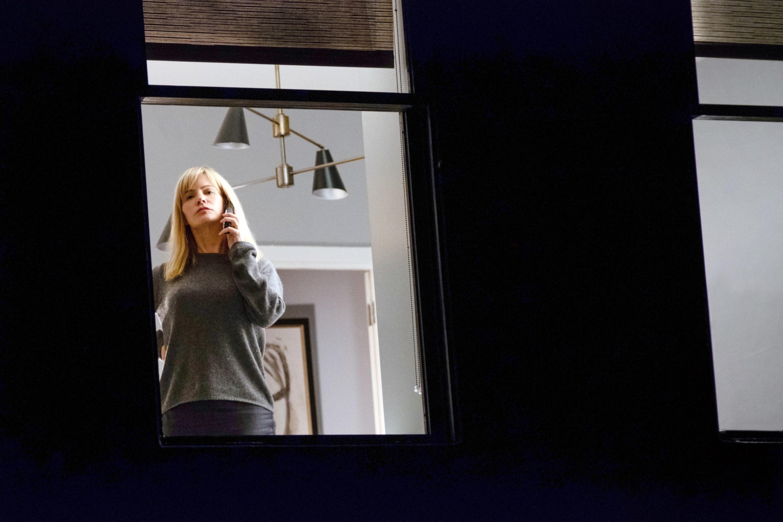 Jane Russell in her window