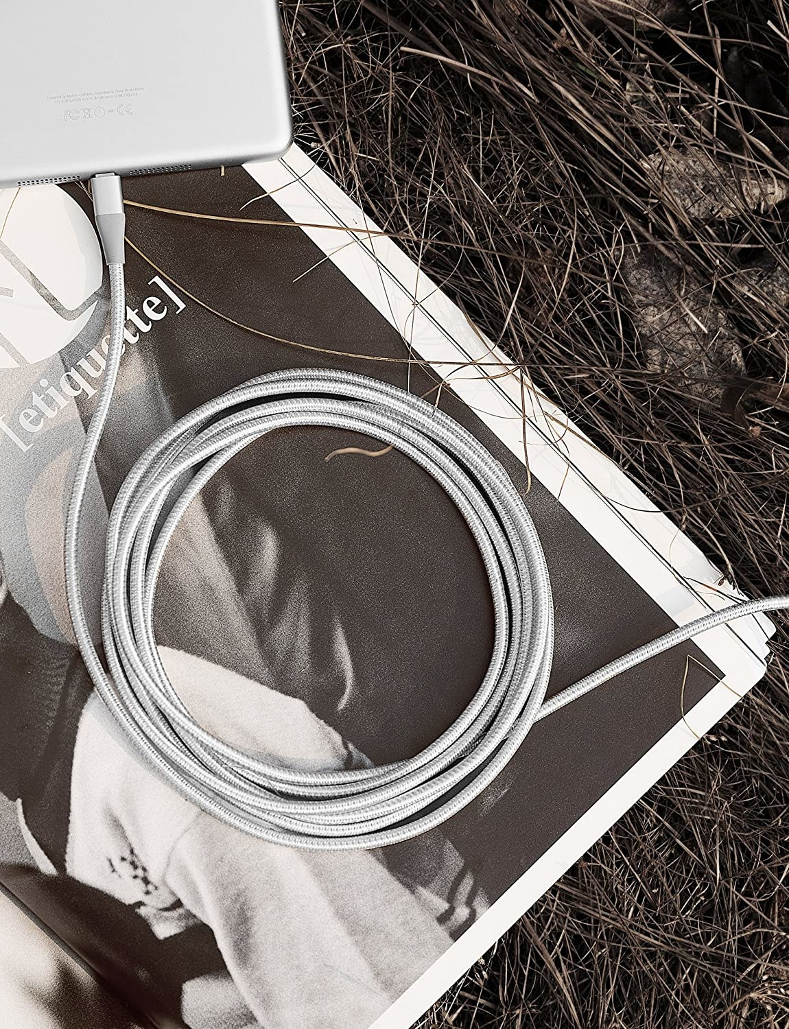 the gray charging cord