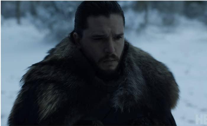 Jon Snow's large furry cape