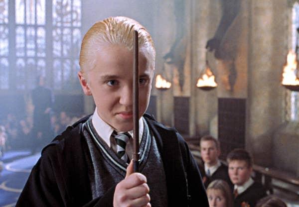Draco's blonde hair
