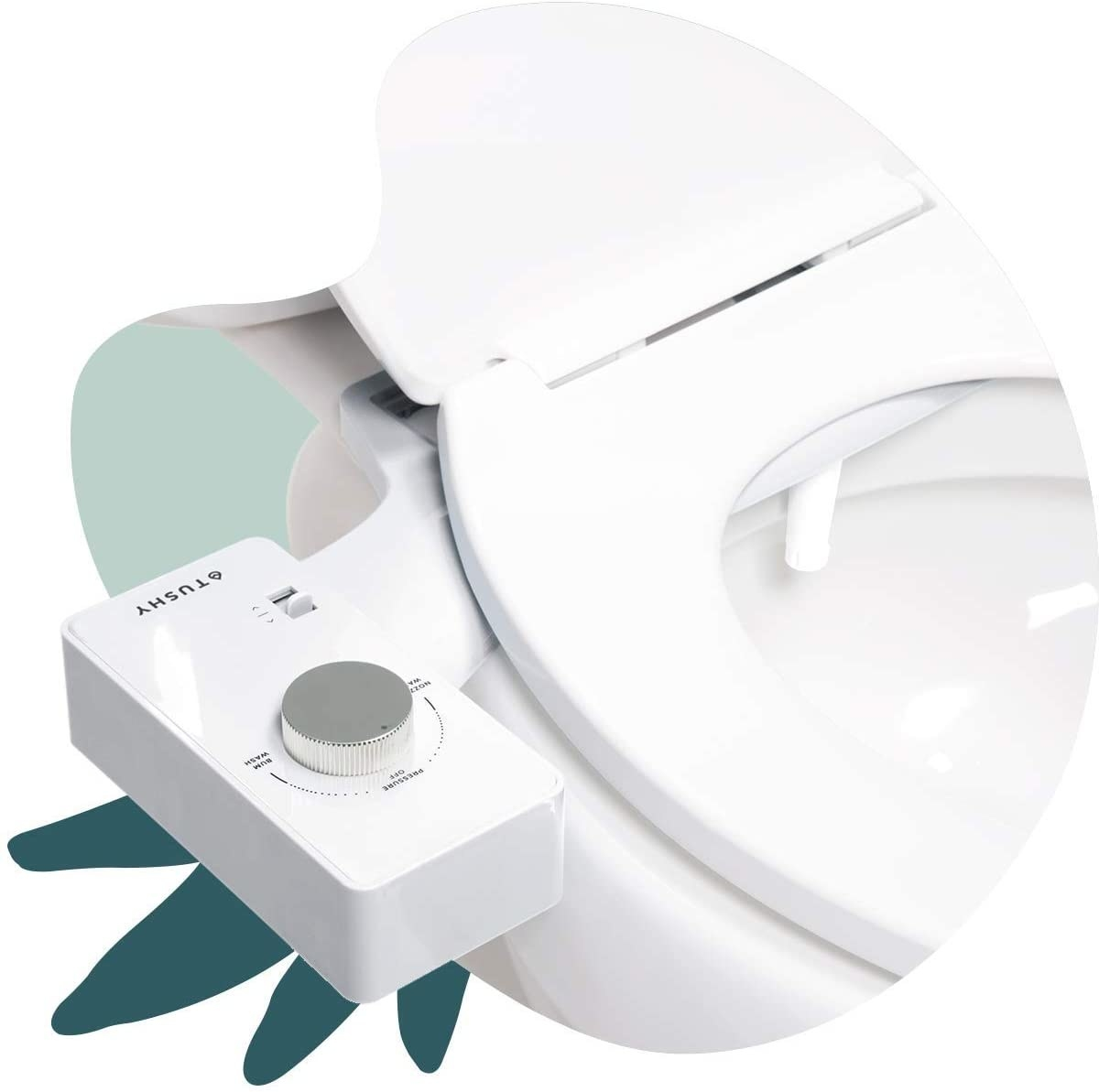 Bidet attached to a toilet