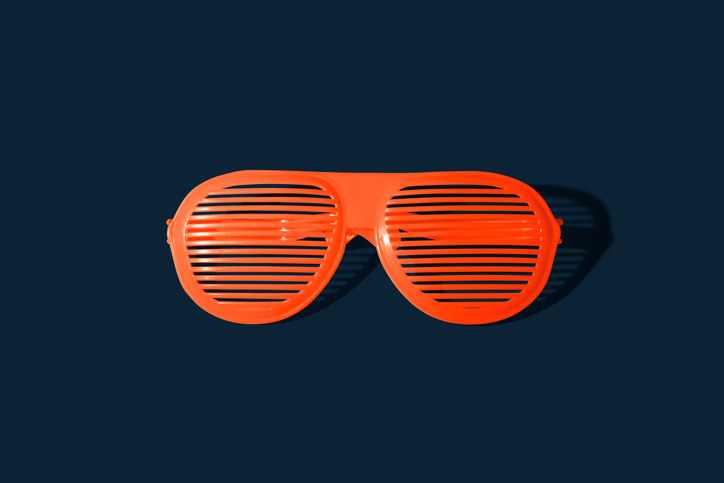 thin slits make these glasses useless