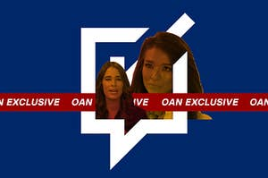 A collage of Christina Bobb and Chanel Rion with the logo for Voices and Votes overlayed