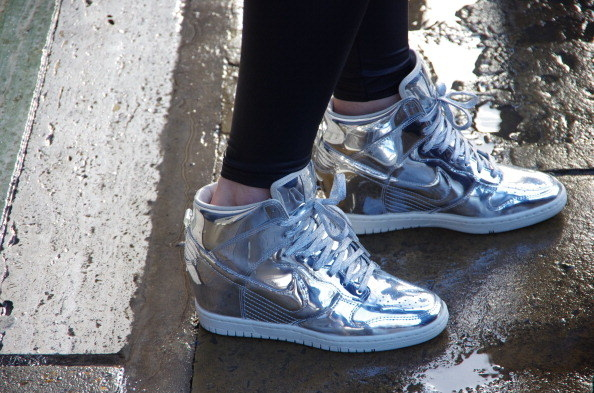 platform heels crossed with hightops