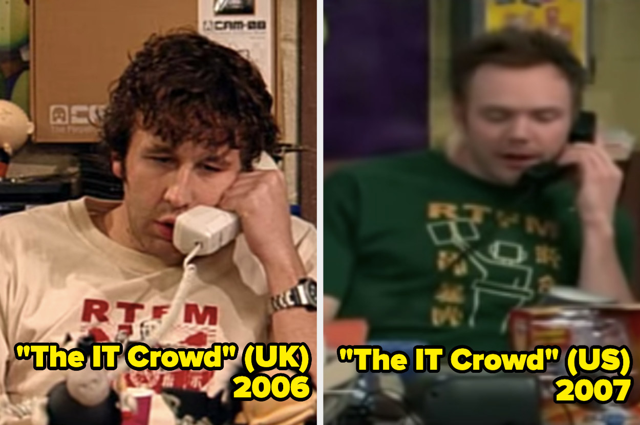 Chris O'Dowd and Joel McHale speaking on the phone