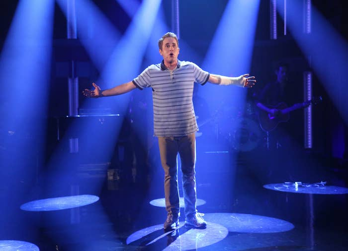 Ben performing during his Broadway run