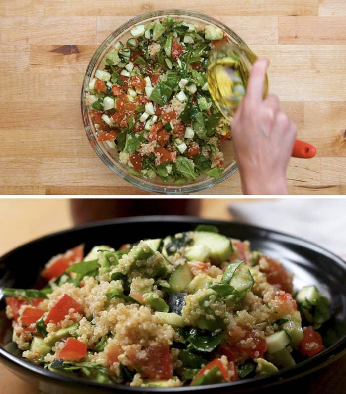 Avocado quinoa power salad