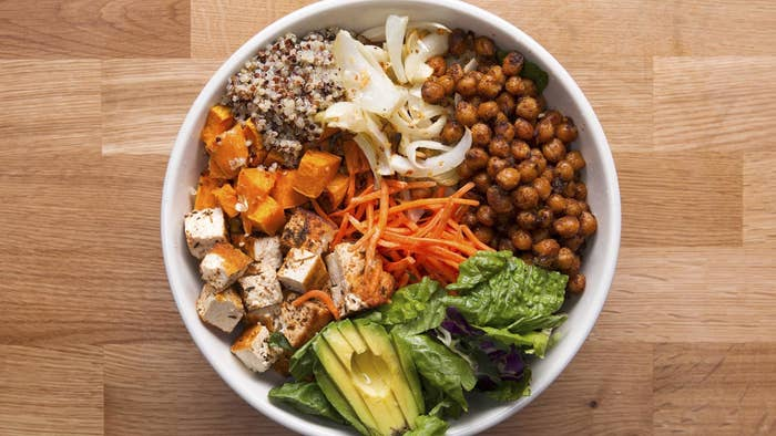 Protein packed veggie bowl