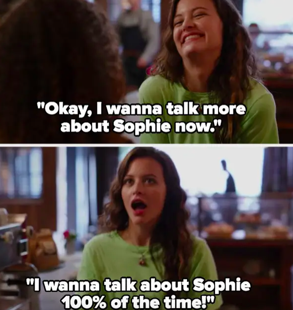 """Max: """"I wanna talk about Sophie 100% of the time!"""""""