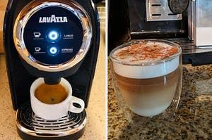 Espresso machine and macchiato