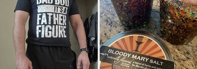 t-shirt and bloody mary salt
