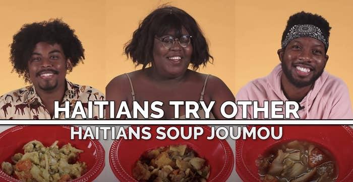 Haitians try each other's Soup Joumou.