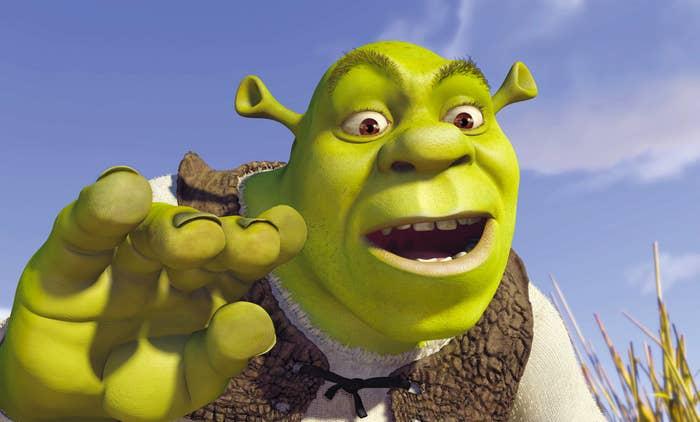 Shrek in a still from Shrek (2001)