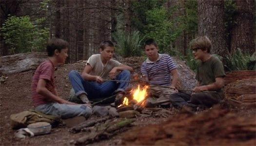 """A bonfire scene from """"Stand by Me"""""""