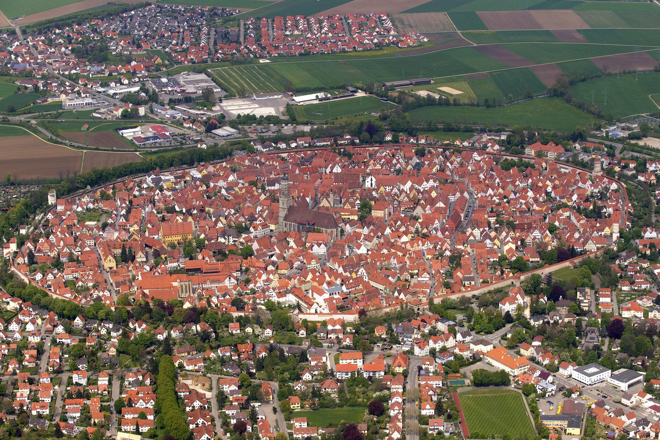 An aerial view ofNördlingen