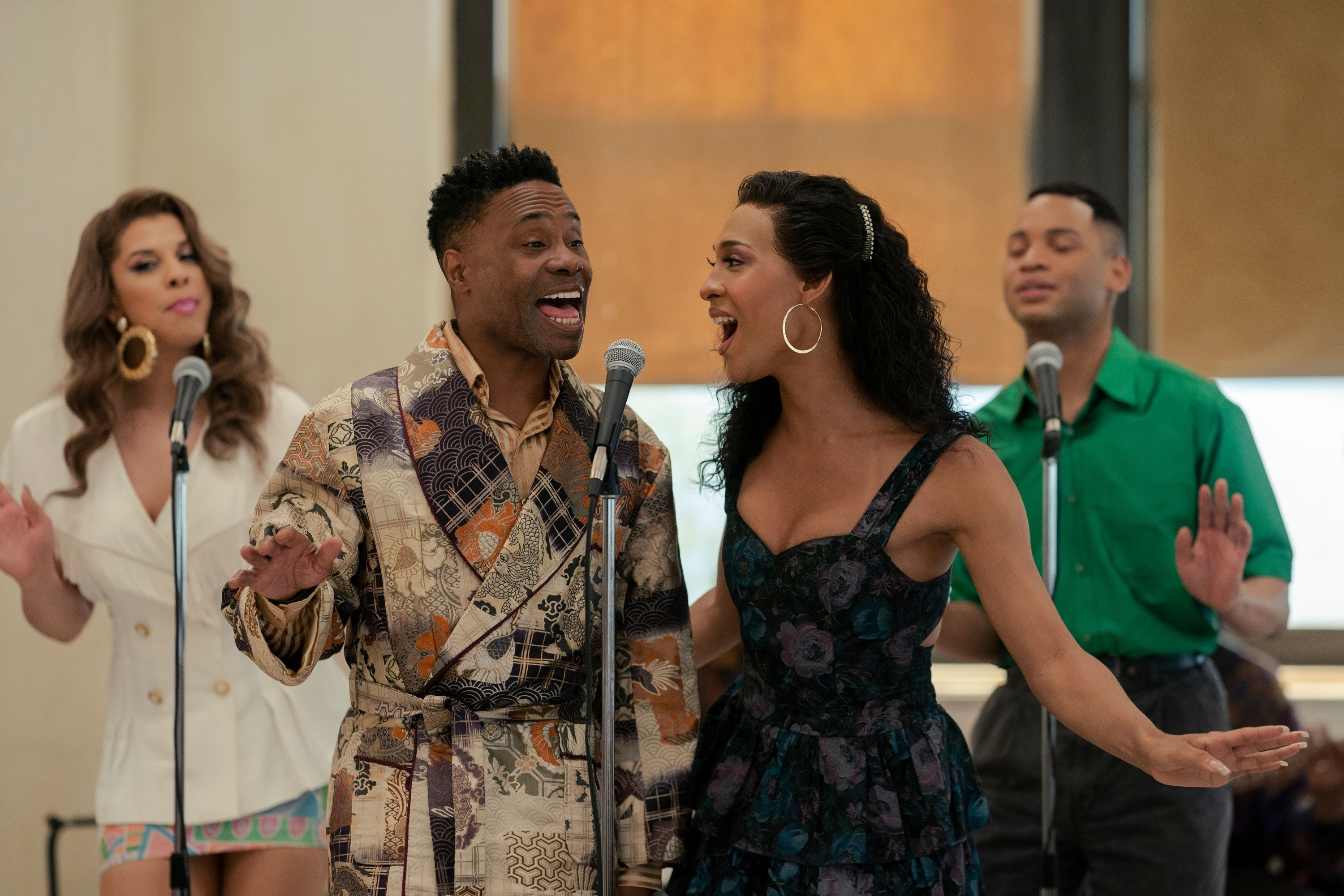Billy singing as Pray Tell in a scene from Pose