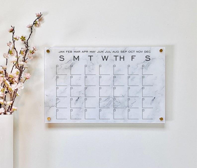 marble effect wall calendar