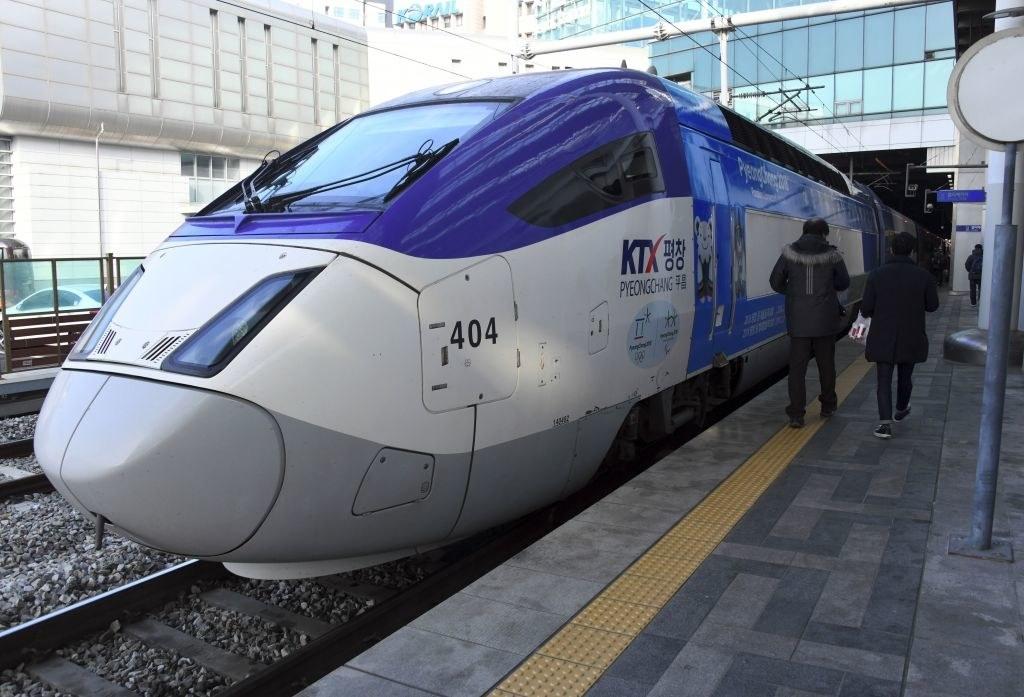 A train in Seoul