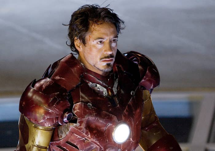 Iron man with his mask off