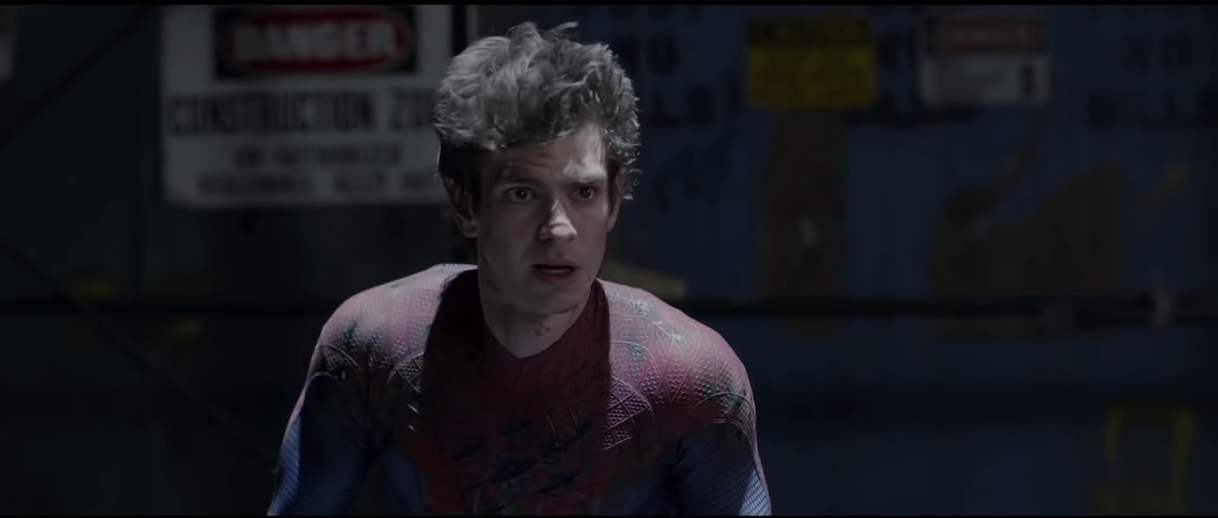 Spiderman unmasked in his costume