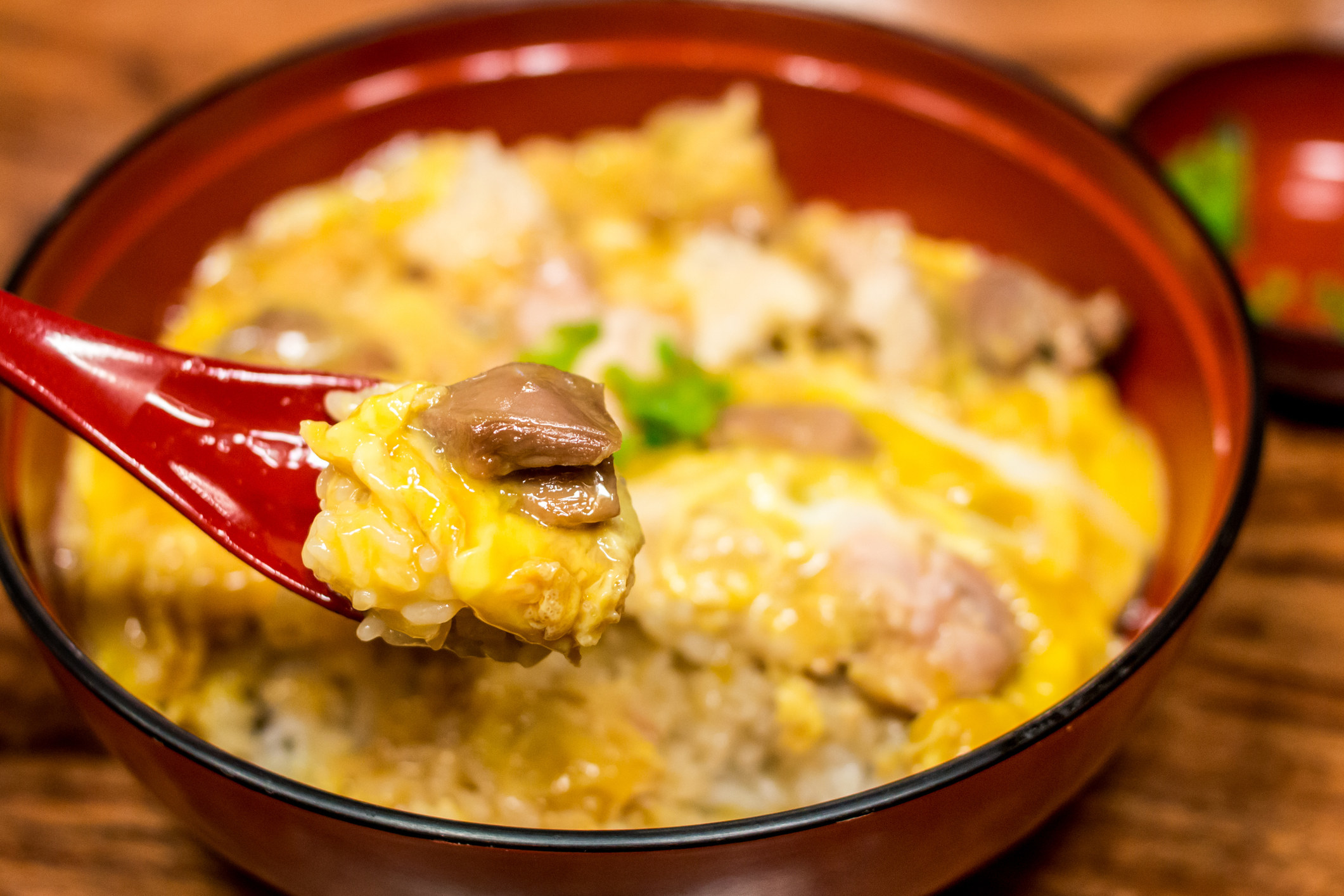Japanese chicken and egg bowl.