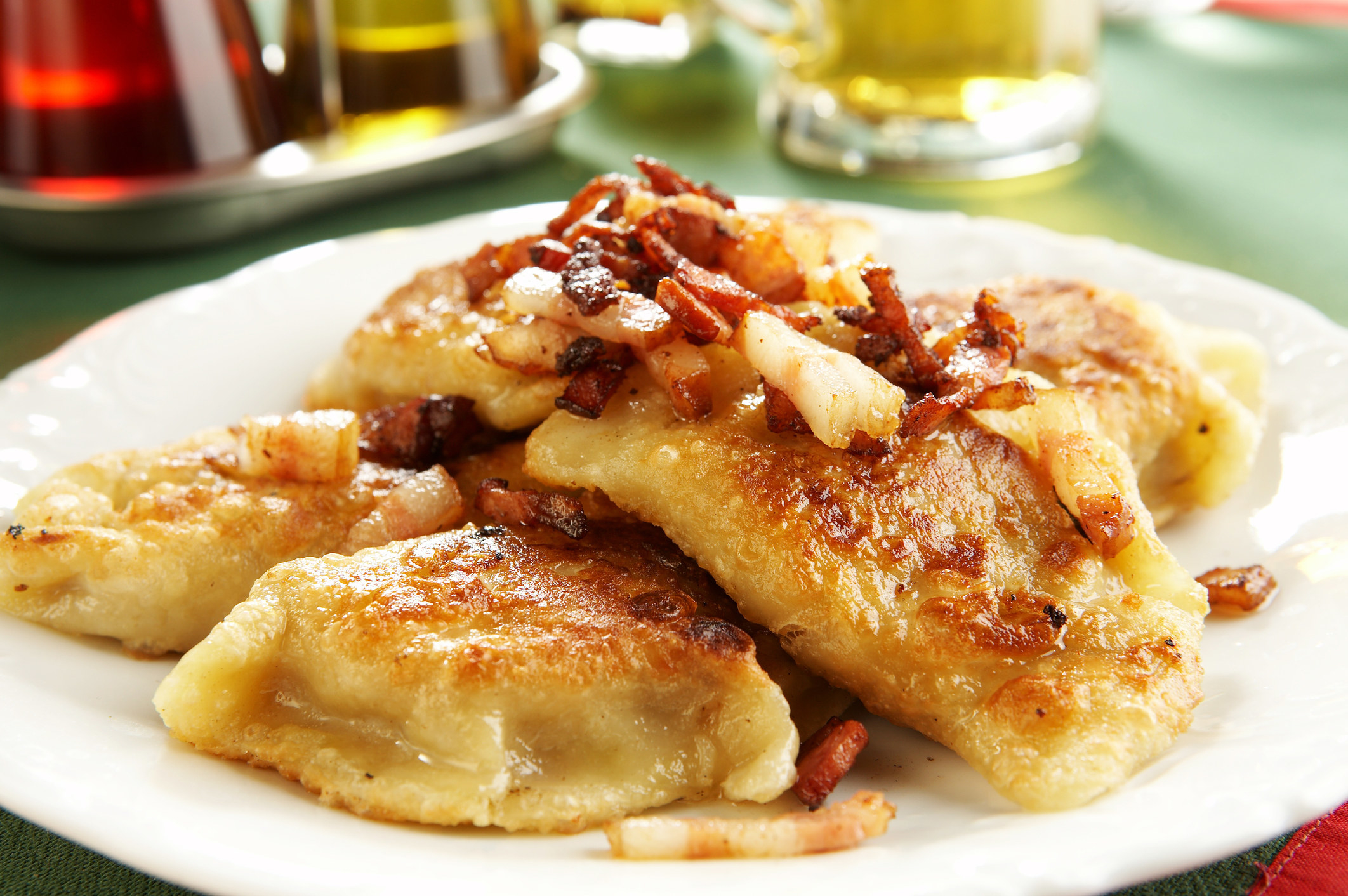 Fried Polish vareniki (aka pierogis).