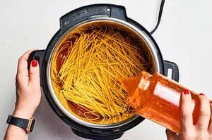 Making spaghetti in the Instant Pot