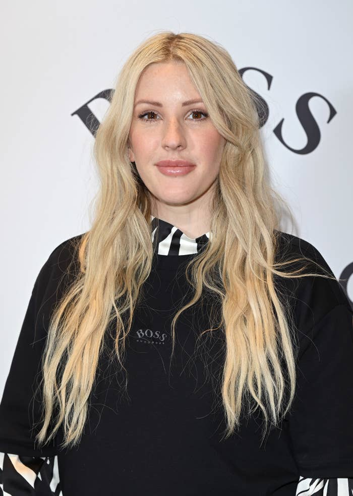 Ellie Goulding at the BOSS and Anthony Joshua collection unveiling in February 2021