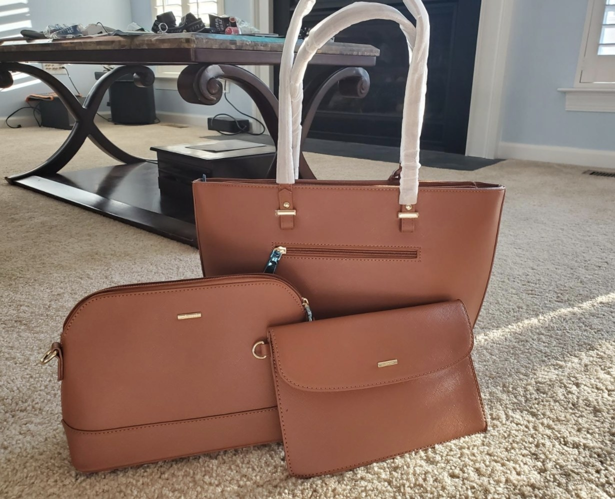 The bags in a tan brown color