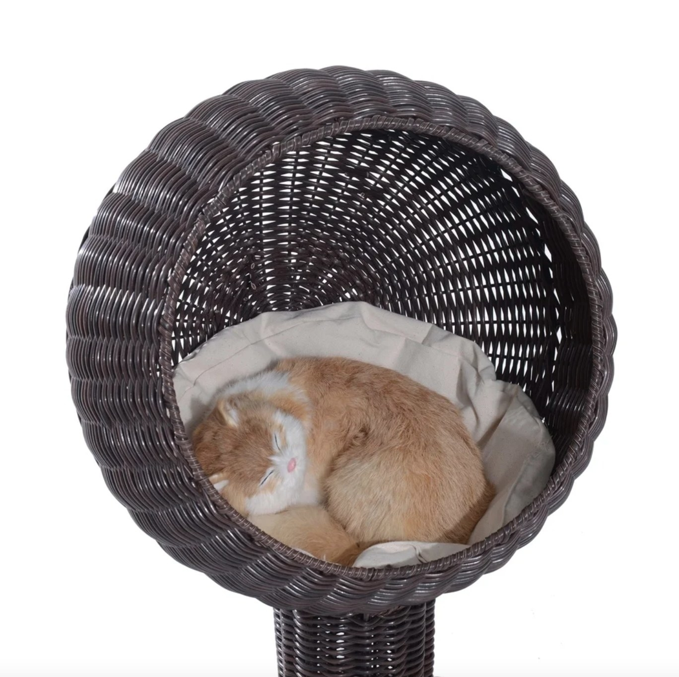 The rope cat bed in coffee brown