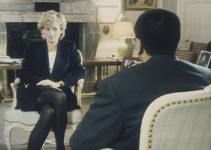 Princess Diana sits for the BBC interview